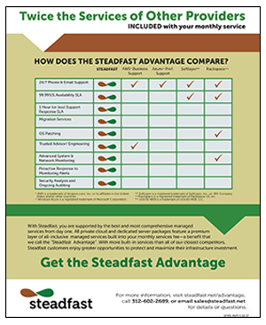 Steadfast Advantage Competitive Matrix